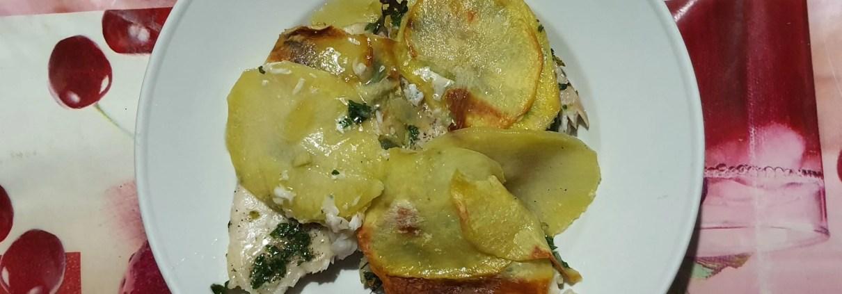 Cernia in crosta di patate