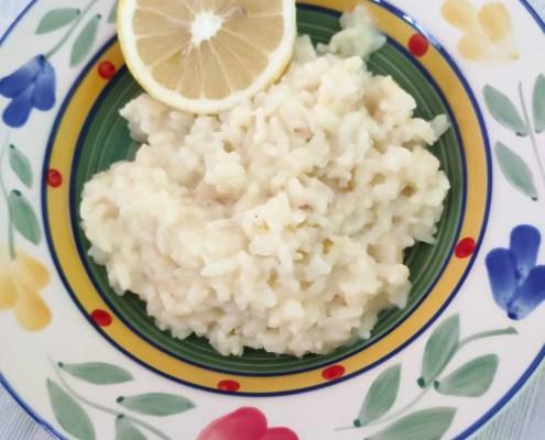 Risotto al limone senza lattosio