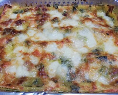 Lasagna con zucchine e speck
