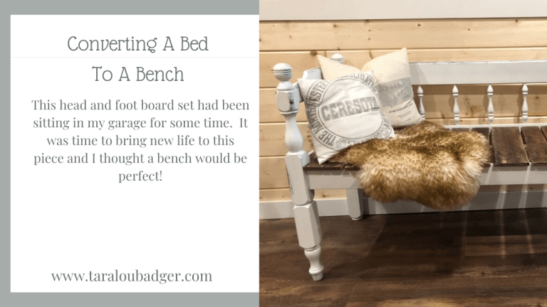Upcycled Bed into a Bench