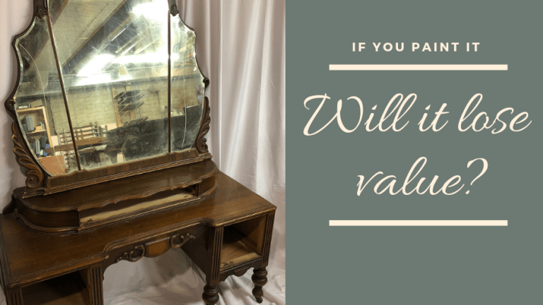 If You Paint Furniture, Will It Lose Value?