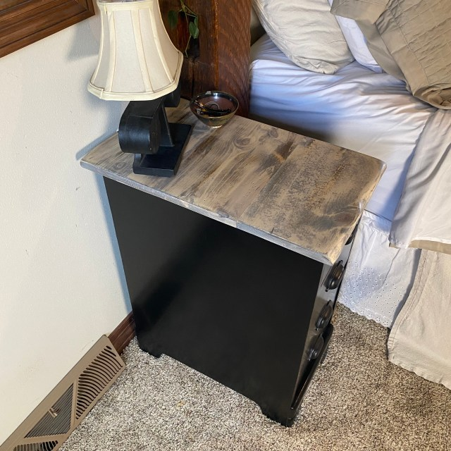 grey top nightstand