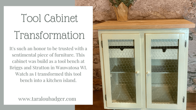 Cabinet Upcycled to Kitchen Island