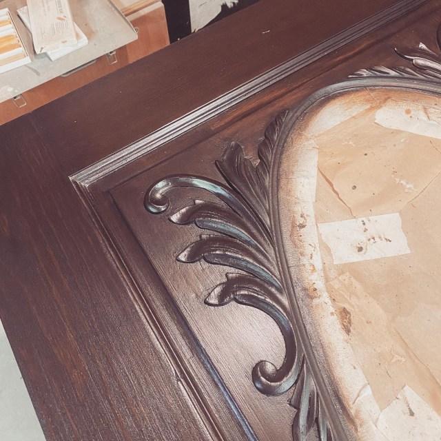 Antique door molding
