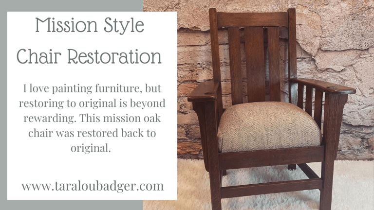 Mission Oak Chair Restoration