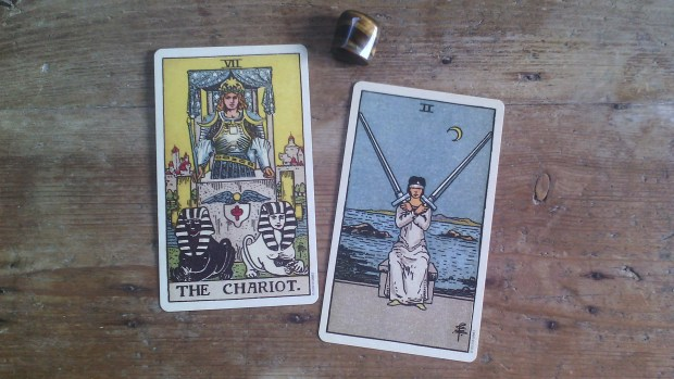 Chariot and Two of Swords Tara Nikita