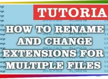 How to rename and change extensions for multiple files on Windows c