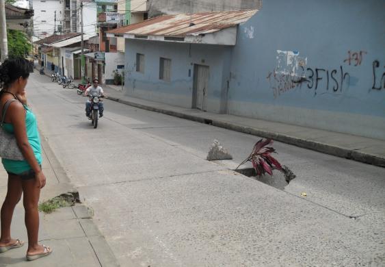 Tarapoto roadworks
