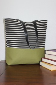 Canvas Slender Tote Handbag