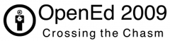 The 2009 Open Education Conference Logo. The conference was at UBC and sponsored by BCcampus