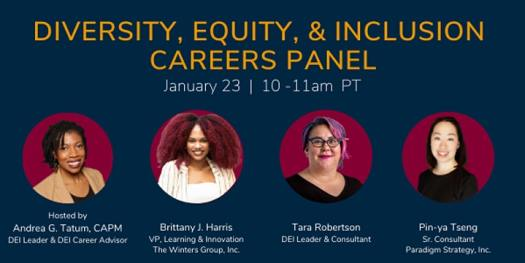 Diversity, equity and inclusion careers panel event information