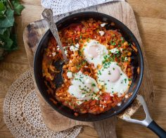 Spiralized Shakshuka
