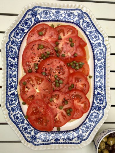 Tomato salad served with chargrilled sourdough