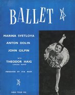 with ballet in my soul 1953 india tour program cover
