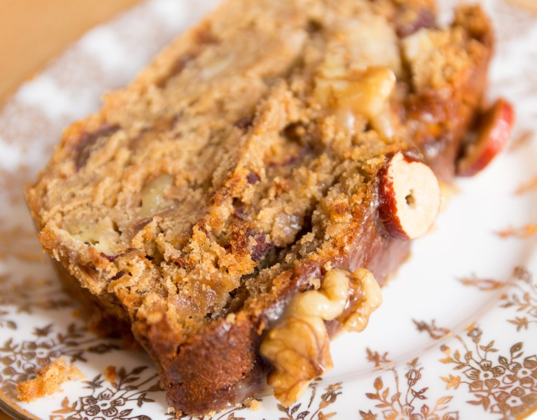 Banana and Jujube Fruit Cake with Honey and Walnut Glaze