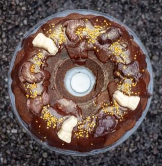 Decadent Dark Chocolate Easter Cake With Chocolate Ganache