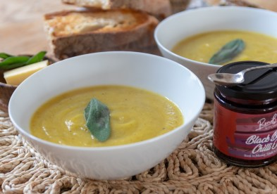 Butternut Squash & Sage Soup with Chilli Oil