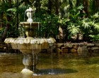 The charming fountain in the center of the Washington Oaks Gardens in Palm Coast, Florida on Wednesday, March 29, 2017. The fountain once existed in the middle of one of the ponds at the park and became worn down, however, the park replaced it with another in order to keep the wishes of Mrs. Young.