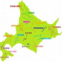 北海道の大きさがよく分かる比較地図