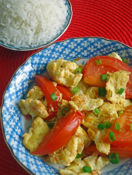 Stir fried tomato and eggs