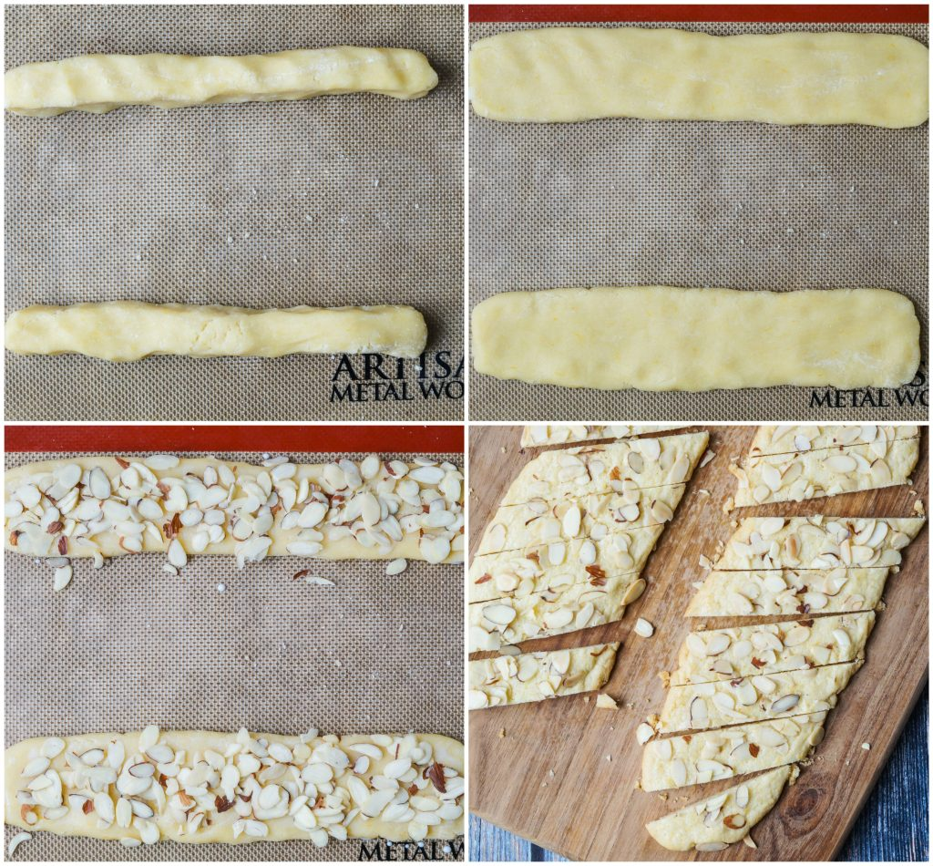 Forming of Orange Almond Cookie Bars
