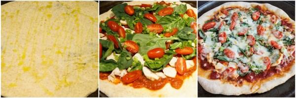 chicken spinach pizza