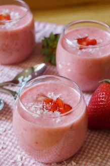 Strawberry Coconut Soup