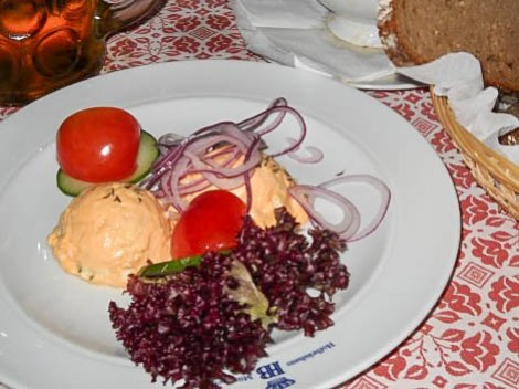 Obatzda from the Hofbräuhaus in Munich, Germany
