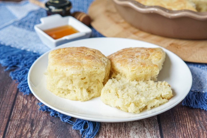 Buttermilk Drop Biscuits on a plate