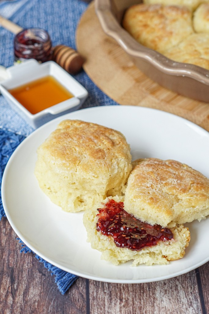 Buttermilk Drop Biscuits with jam