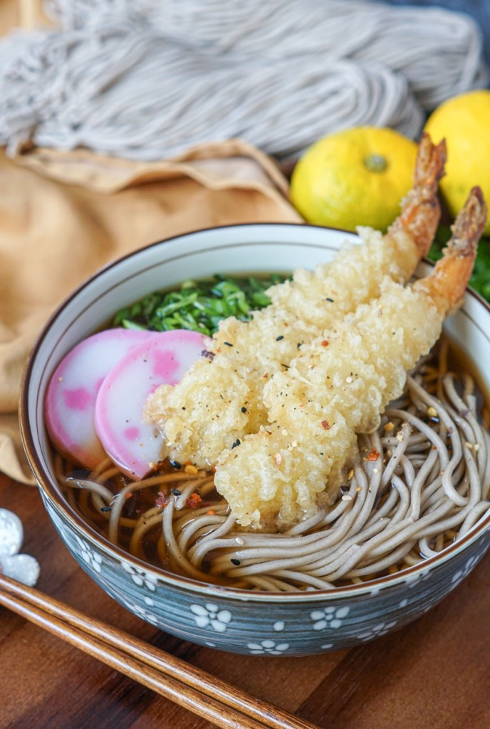 Toshikoshi Soba (Japanese New Year Soba) with tempura
