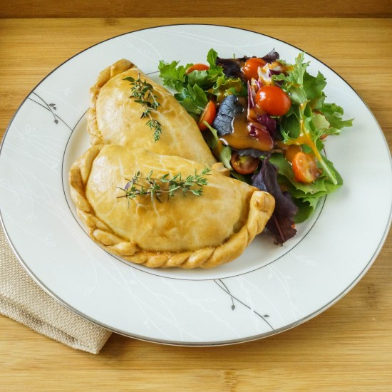 Cornish Pasties with a salad