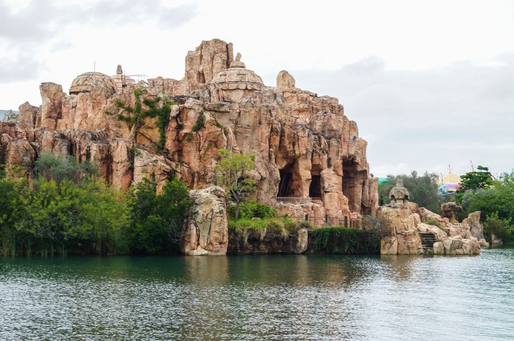 View of Mythos Restaurant from the water.