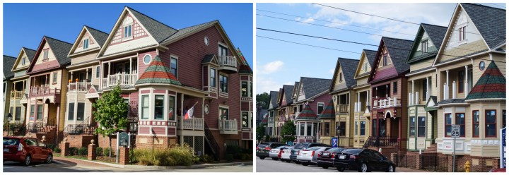 Townhomes along Mill Street in Historic Occoquan.