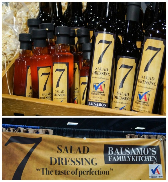 Bottles of salad dressing on display at Balsamo's Family Kitchen.