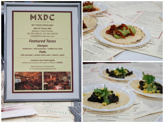 Tacos on white plates from MXDC.