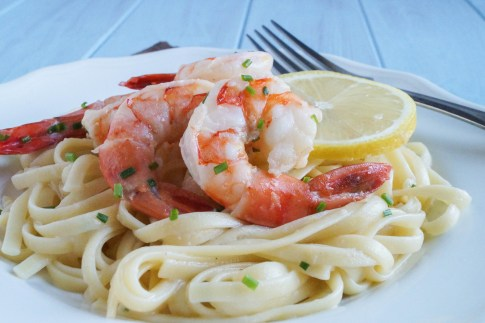 lemon garlic linguine with mascarpone and shrimp (3 of 3)