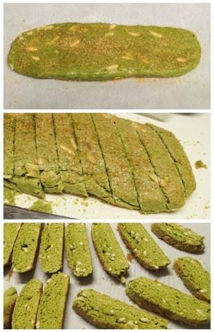 Cutting up the biscotti
