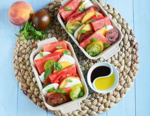 Watermelon Peach Caprese Salad (1 of 3)