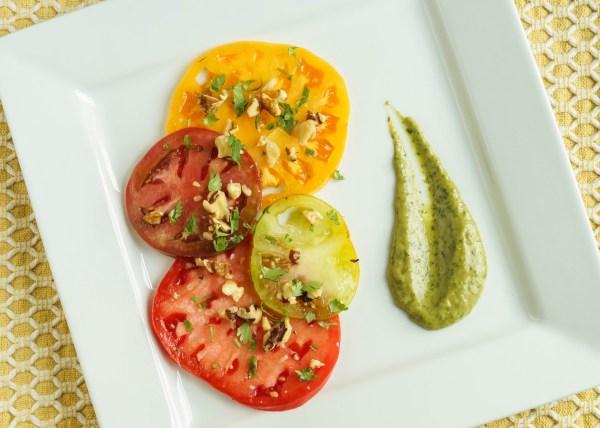 Tomato Salad with Avocado Cilantro Balsamic Vinaigrette (1 of 3)
