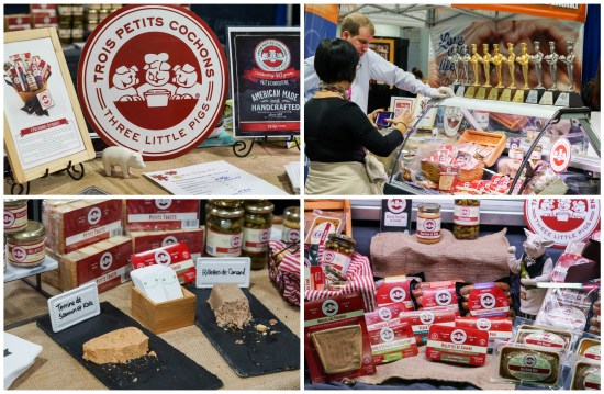 Pate, cold cuts, and sausages on display at Trois Petits Cochons- Three Little Pigs.