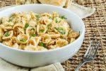 Strascinati con la Mollica (Italian Pasta with Breadcrumbs) in a large white bowl.