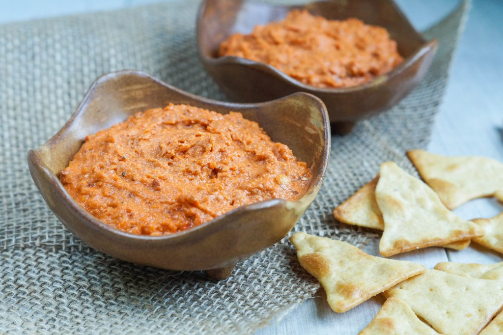 Roasted Tomato, Almond, and Tahini Dip (2 of 3)