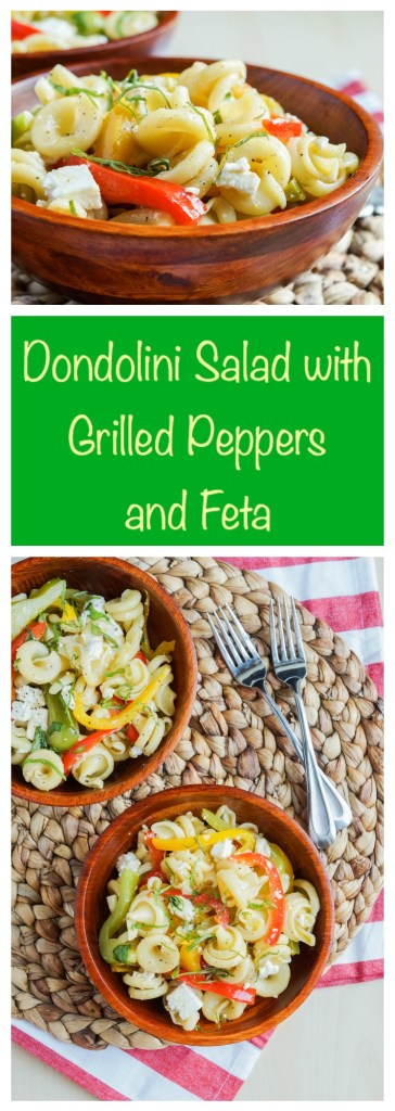 Dondolini Salad with Grilled Peppers and Feta
