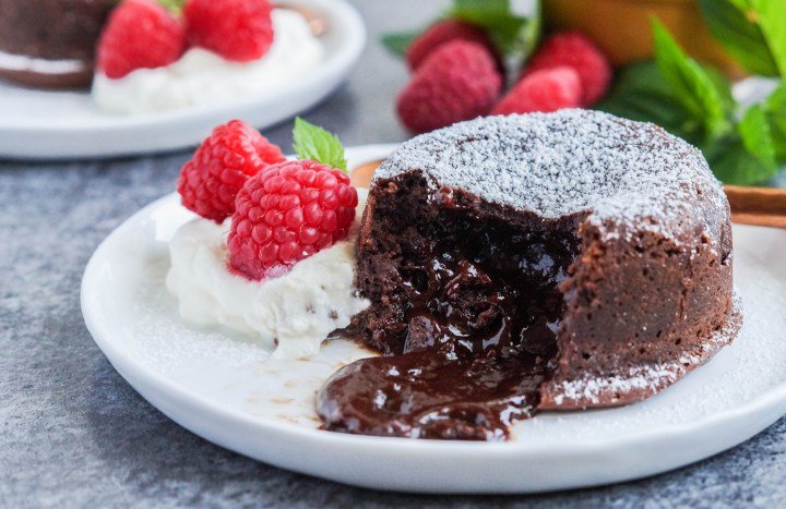 Molten Lava Cake center