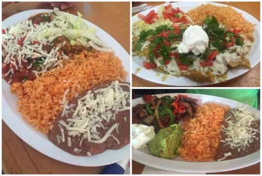 Chilaquiles with rice and beans from El Baja Chef