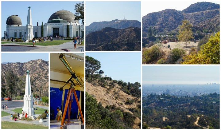 Griffith Observatory- view of Hollywood Sign, looking down onto Los Angeles