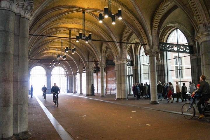 Archway Bike path through the center of Rijksmuseum