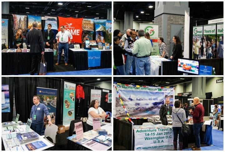 Vendors at the Washington DC Travel & Adventure Show 2017