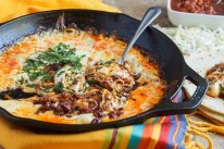Queso Fundido (Melted Cheese with Chorizo)